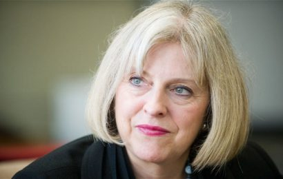 The home secretary of UK gives striking speech