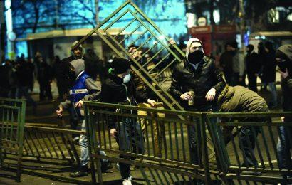 Bucharest faced violent confrontations
