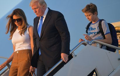 Trump Family Reunites as Melania and Barron Trump Move Into the White House