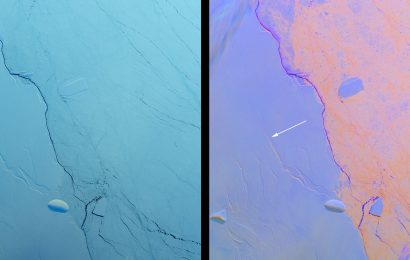 NASA Shares Impressive Picture of New Antarctic Iceberg