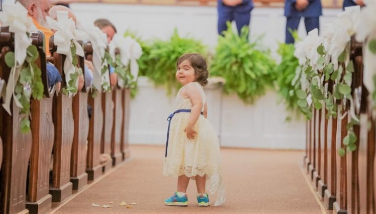 3-Year-Old Cancer Survivor Becomes Flower Girl at Donor's Wedding