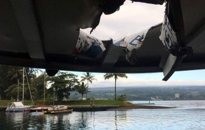 23 injured as lava bomb hits Hawaiian tour boat