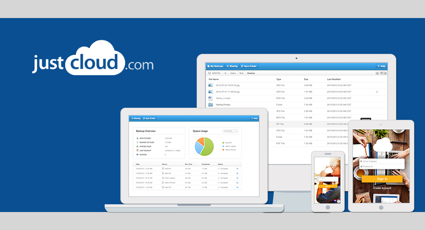 Cloud storage from JustCloud - now available at special rates