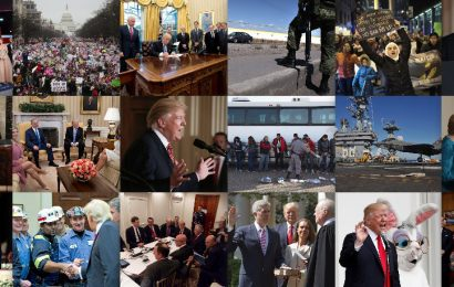 First 100 days of Trump's term of office – in pictures