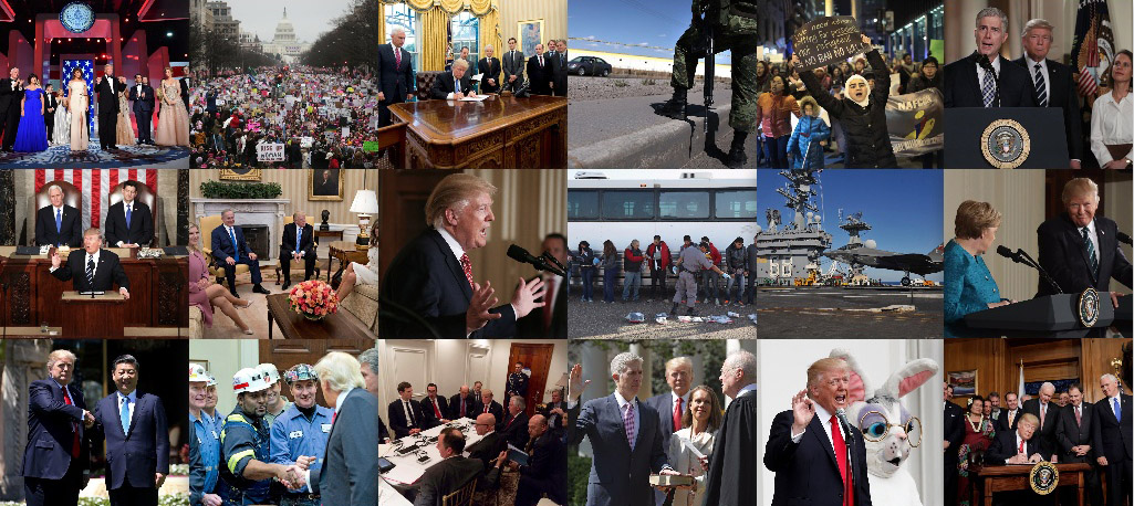 First 100 days of Trump's term of office - in pictures