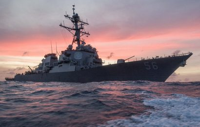 U.S. Destroyer Arrives in Singapore After Being Stricken – 10 Missing Sailors