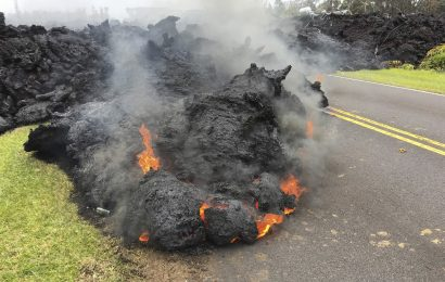 Lava from Kilauea Volcano in Hawaii – In Pictures