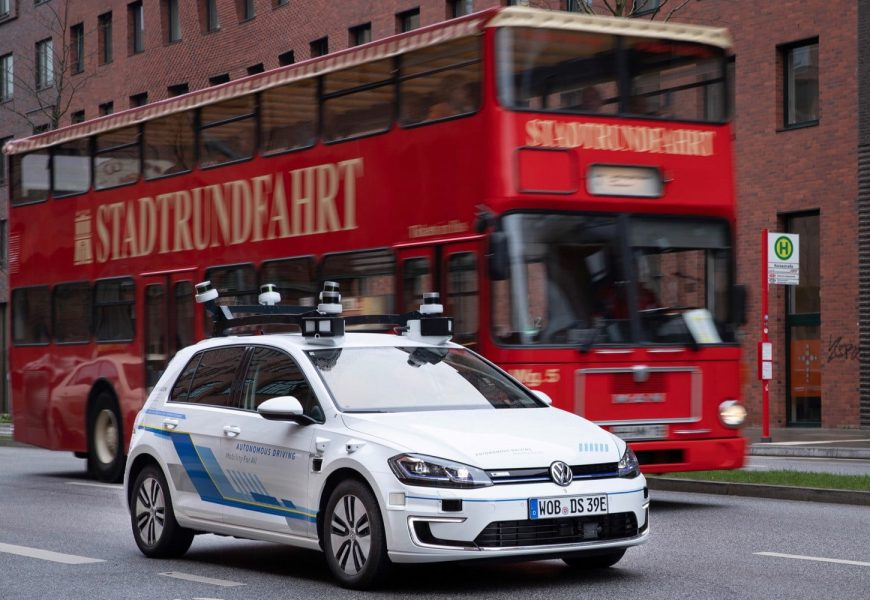 Volkswagen Is Testing Self-Driving Cars In Hamburg, Germany