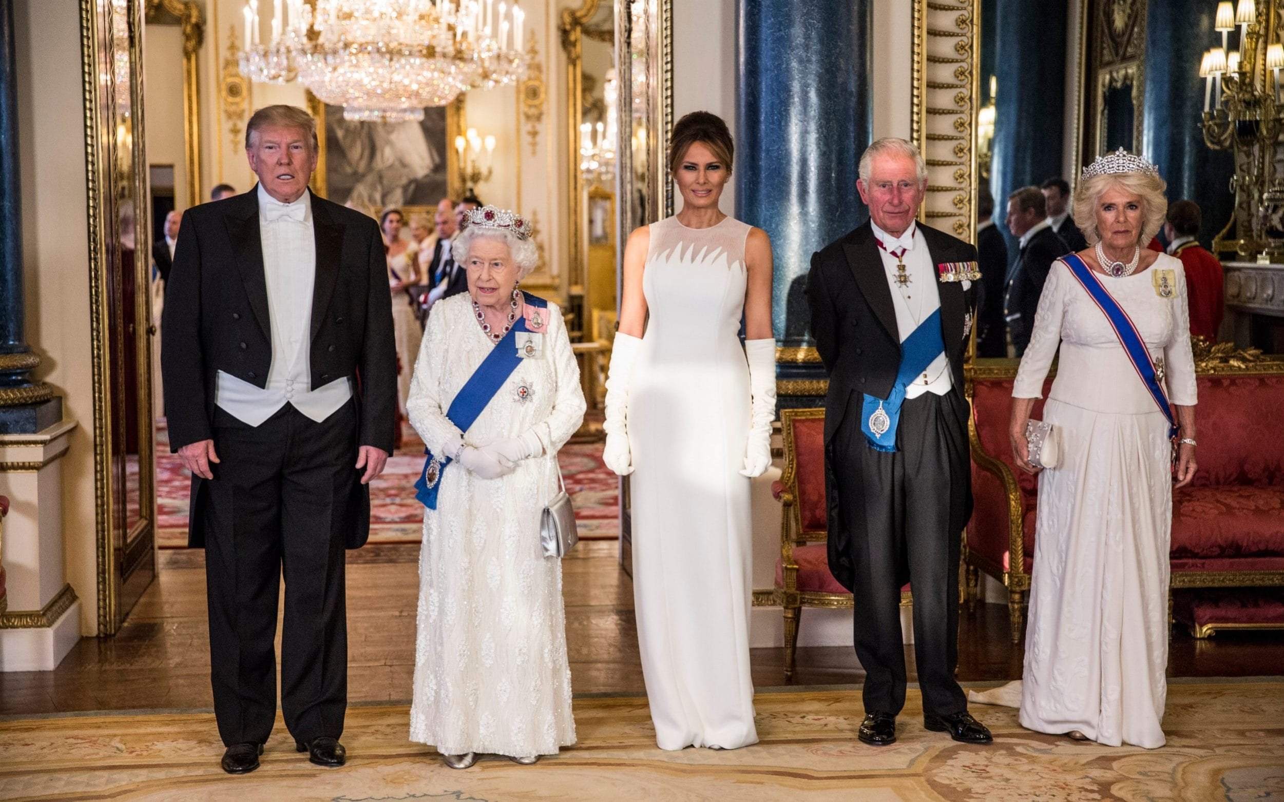 President Trump Began His UK Visit And Met With The Queen
