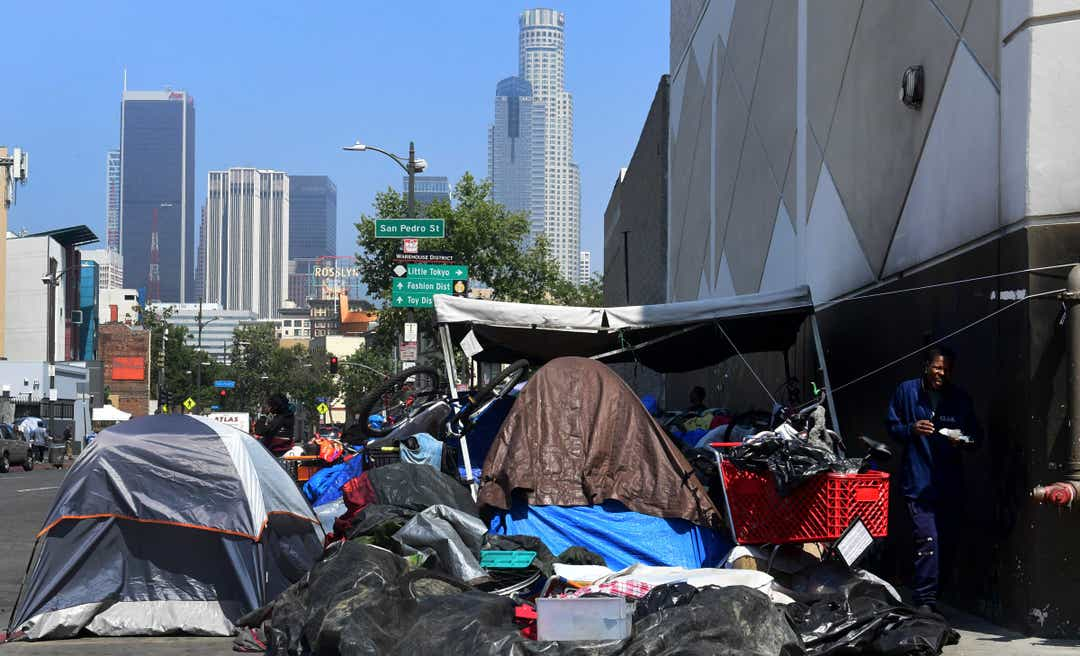 Donald Trump blames California laws and tolerance for street sleeping and homeless crisis