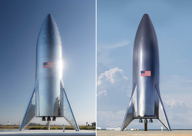 SpaceX Unveils Massive Starship Prototype Design