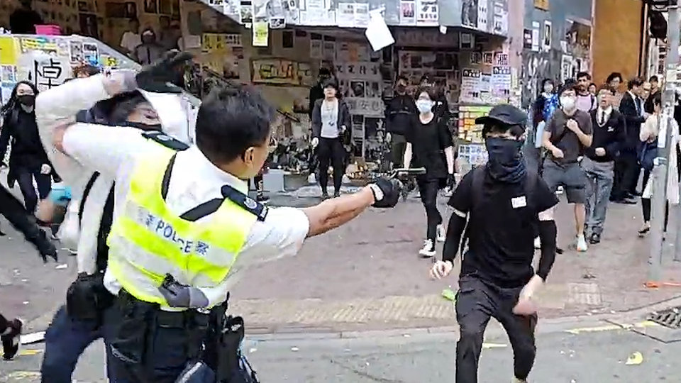 police protesters