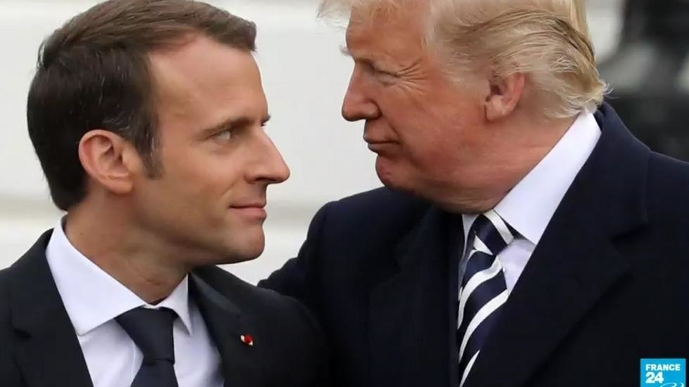 Trump slams Macron for 'non-answer' on ISIS fighters, in a tense meeting overseas