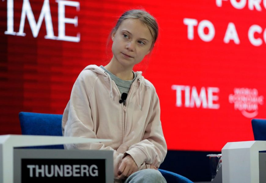 Greta Thunberg came with a burning message at Davos Forum